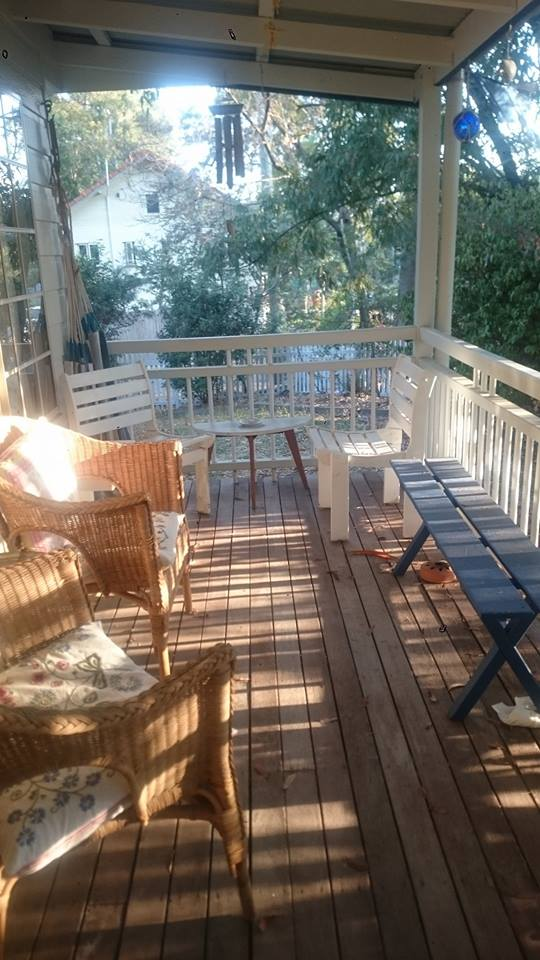 The deck late afternoon